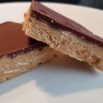keto peanut chocolate squares